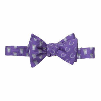 Mint Julep/Horse Shoe Bow - Purple